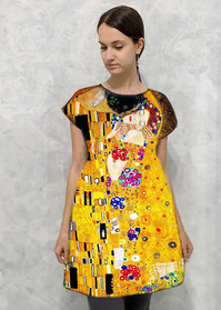 Dress With print The Kiss - Painting by Gustav Klimt
