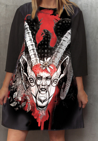 Dress with Print Capricorn - long sleeve